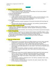 USMLE Review, Supplement for FIRST AID Page 1 Pathology ...