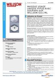 masque usage unique ffp2d avec soupape exp. willson 5211 ml