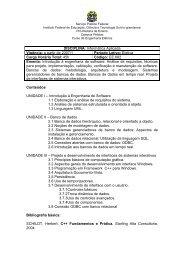 DISCIPLINA: Informática Aplicada Vigência: a partir de 2007/1 ...