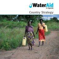 Uganda country strategy 2011-2016 - WaterAid