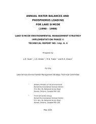 Annual Water Balances and Phosphorus Loading for Lake Simcoe ...