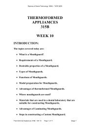 Thermoformed Appliances 315B - Randwick College Wiki