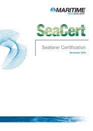Seafarer Certification - November 2012 - Maritime New Zealand