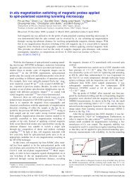 In situ magnetization switching of magnetic probes applied to spin ...