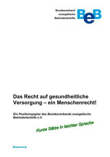 Positionspapier in leichter Sprache PDF-Datei, 254 kb
