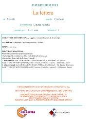 La lettera - Istituto Scolastico Comprensivo Lorenzo Lotto, Jesi