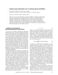 Depth-sensing indentation tests in studying plastic instabilities