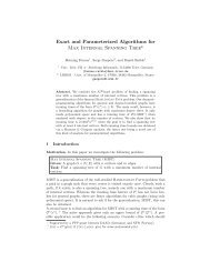 Exact and Parameterized Algorithms for Max ... - ResearchGate