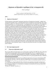 Algemene en bijzondere regelingen in het vermogensrecht