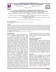 a novel validated rp-hplc method for the determination of itopride ...