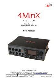 AETA Audio Systems 4MinX Manual - Aspen Media.