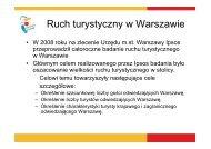 Ruch turystyczny w Warszawie - Warszawa