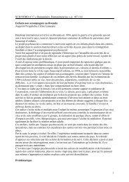 Enfants non accompagnés au Rwanda - Handicap International
