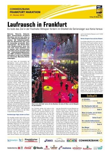 Laufrausch in Frankfurt - Frankfurter Neue Presse