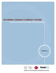 Securing Canada's Energy Future - Asia Pacific Foundation of Canada