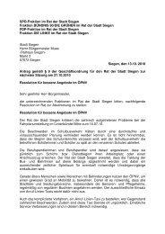 13.10.10 Gemeinsame Resolution für einen besseren ... - SPD Siegen