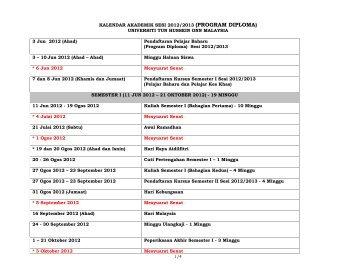 kalendar akademik _diploma_ sesi 20122013 - bm