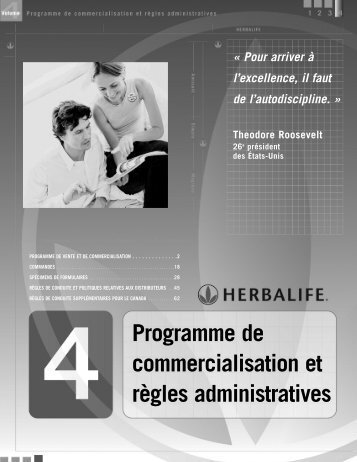 Programme de commercialisation et règles administratives - Herbalife