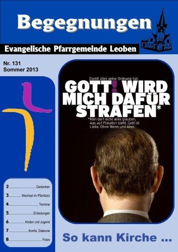 Ausgabe Sommer 2013 - Evangelische Pfarrgemeinde Leoben