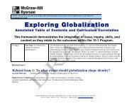 Exploring Globalization - McGraw-Hill Ryerson