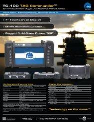 TAG Portfolio: TC-100 COMMANDER Datasheet - TAG.com