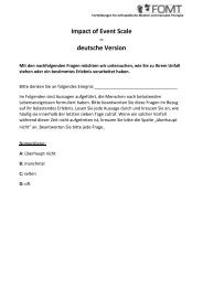 Impact of Event Scale – deutsche Version - FOMT