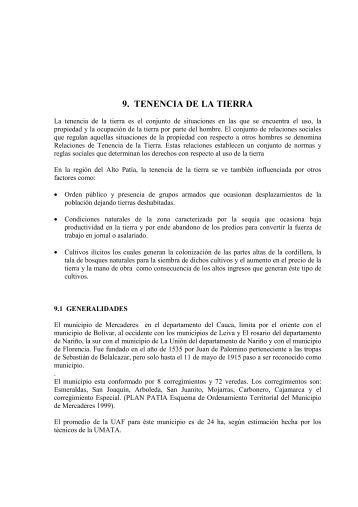 9. TENENCIA DE LA TIERRA