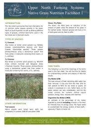 Upper North Farming Systems Native Grass Nutrition Factsheet 1