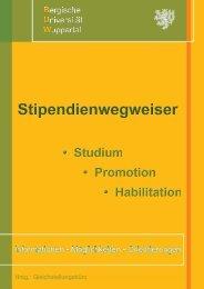Stipendienwegweiser der Uni Wuppertal - Bergische Universität ...