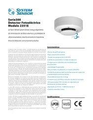 Serie300 Detector Fotoeléctrico Modelo 2351E - System Sensor ...