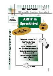 AKTIV in Sprockhövel 1/2011 Ausgabe