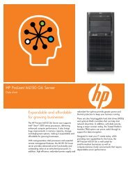HP ProLiant ML150 G6 Server- Datasheet - Karma Group