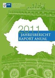 raportul Anual - AHK Rumänien - AHKs