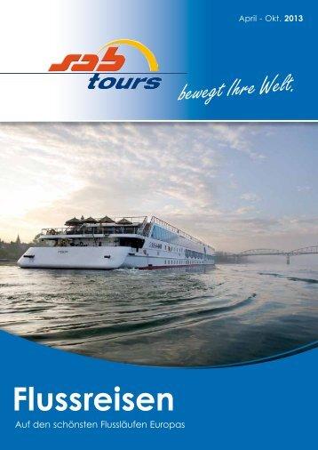 Flussreisen-Katalog 2013 (pdf) - SabTours Wels
