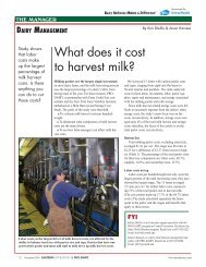 What does it cost to harvest milk? - Cornell University