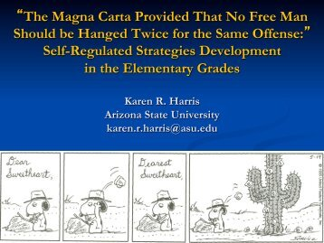Self-Regulated Strategies Developme - Center on Teaching and ...