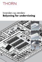 Innendørs og utendørs Belysning for undervisning - THORN Lighting