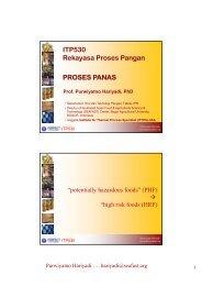 Prinsip Proses Aseptis - Bogor Agricultural University