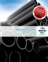 HDPE Water & Sewer Product Brochure - JM Eagle