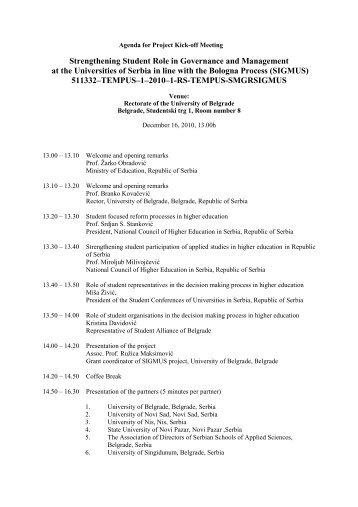 Suite Project Kick-Off Meeting Agenda - Urbact