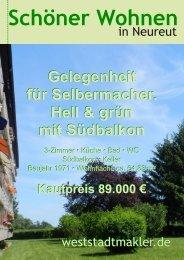 Gelegenheit für Selbermacher. Hell & grün mit Südbalkon ...