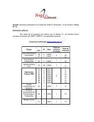 Asunto: Números publicados en la Colección SciELO Venezuela ...
