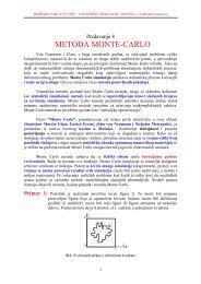 Predavanje 8 SIMULACIJE Monte Carlo 2011