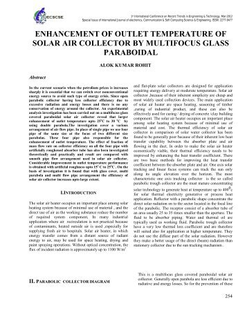 enhancement of outlet temperature of solar air collector by ...