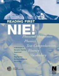 Phonemic Awareness Text Comprehension Phonics Fluency ...
