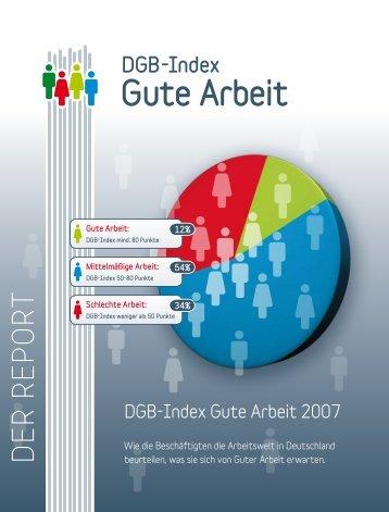 DGB-Index Gute Arbeit – REPORT 2007