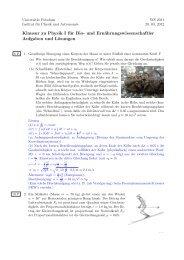 Klausur Experimentalphysik I (WS 2012): Aufgaben und Lösungen