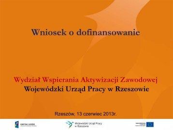 Prezentacja - Wytyczne - wup rzeszow.pl - Wojewódzki Urząd Pracy ...
