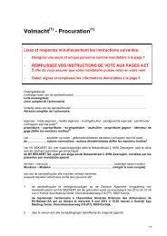 Volmacht - Procuration - Bekaert