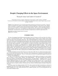 Droplet Charging Effects in the Space Environment - Aerospace ...